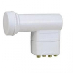 TETE PARABOLE LNB QUAD 4 SORTIES POUR 1 SATELLITE 4 DEMODULATEURS