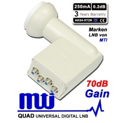LNB QUAD 0.2 dB MTI GAIN 70DB HIGH LINE AK54-XT2N