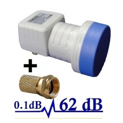 LNB SINGLE PRO HD-LINE 62db ! 0.1DB ! 1 TETE PARABOLE 1 SORTIE