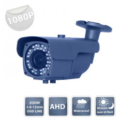 Camera de surveillance B75M1080P noire IR 36 LED IR CUT - 1080P métal - Waterproof