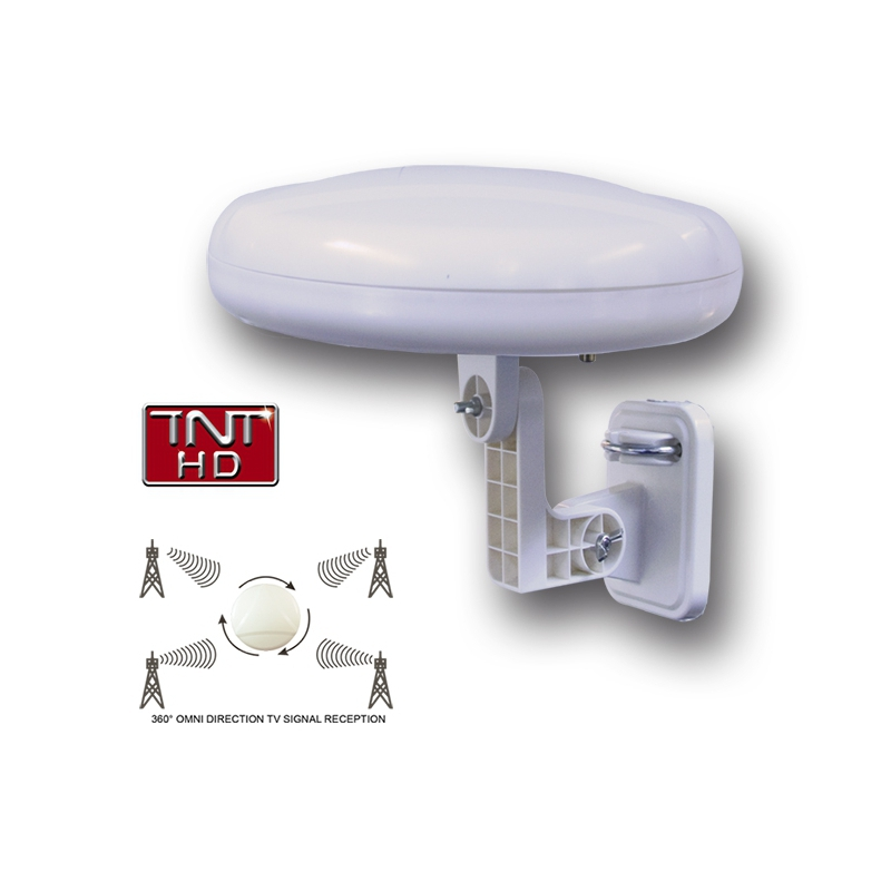 360 antenne tv tnt hd omni directionnelle orientation for Orientation antenne tnt exterieur