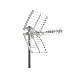 ANTENNE FRACARRO TV TNT exterieure UHF rateau - Yagi Loop - Double reflecteur
