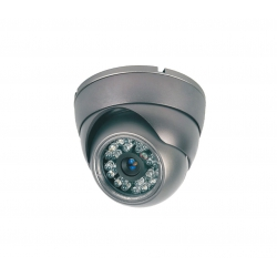 Camera de surveillance MD-200G Dome CCTV gris IR 24 LED - Couleur 420TVL metal