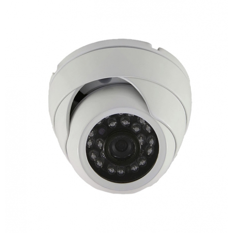 Camera de surveillance MD-200W Dome CCTV gris IR 24 LED - Couleur 420TVL métal