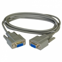 CABLE SERIE RS232 DB9 FEMELLE FEMELLE Version CROISE