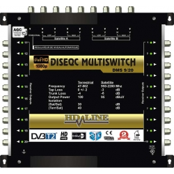 HD-LINE PRO MULTISWITCH 10/20 - 2SAT ( 1 SAT 1 POLARITE) - 1TER / 20DEMOS