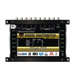 HD-LINE PRO MULTISWITCH 10/12 - 2 SATELLITES ( 1 SAT 1 POLARITE) - 1 TERRESTRE / 12 DEMOS