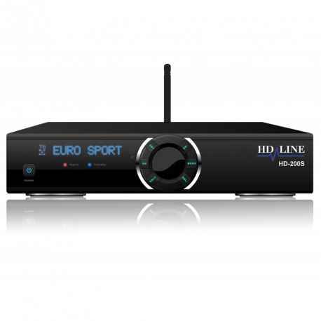 HD-LINE HD-200S Démodulateur satellite FTA Full HD 1080p IPTV WiFi LAN USB Lecteur de carte CA - Mediaplayer