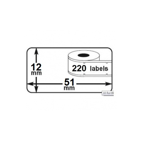 1 rouleau etiquettes seiko DYMO 99017 compatibles labels writer roll 51mm X 12mm
