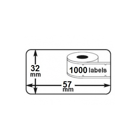 1 rouleau etiquettes seiko DYMO 11354 compatibles labels writer roll 57mm x 32mm