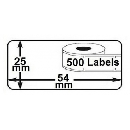 1x rouleau etiquettes seiko DYMO 11352 compatibles labels writer roll 54mm x 25mm