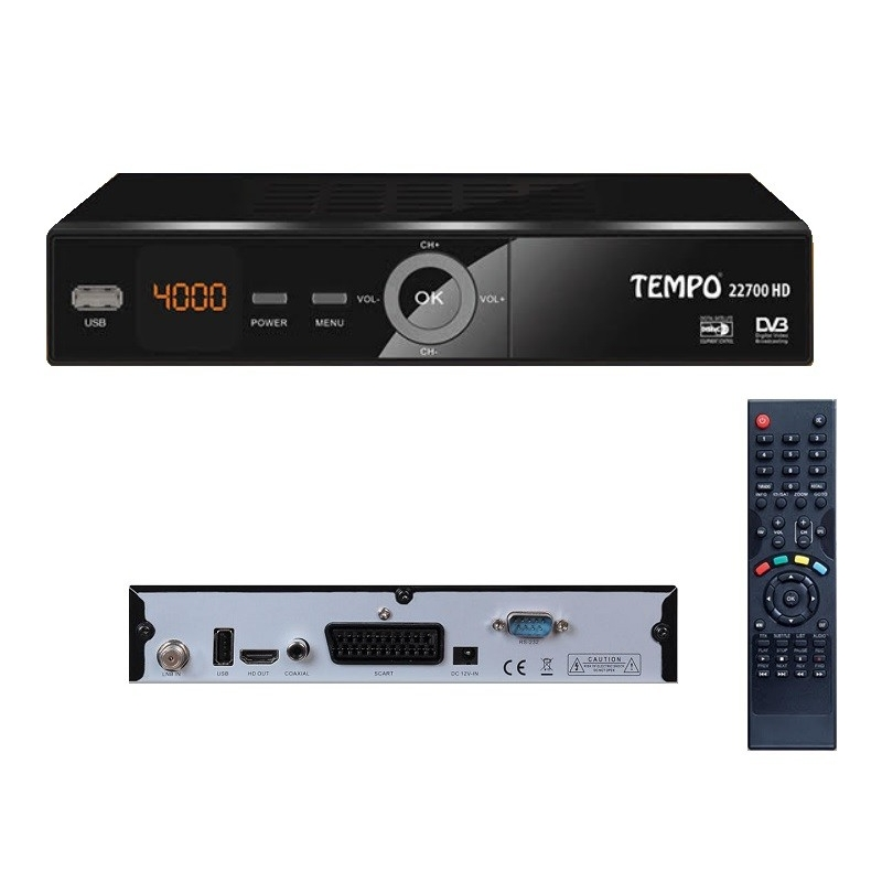 tempo 22700 hd recepteur satellite fta hd recepteur parabole. Black Bedroom Furniture Sets. Home Design Ideas