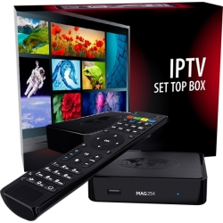 MAG 254 - Décodeur IPTV Multimédia Set Top Box TV Récepteur IP VOD - Compatible WiFi