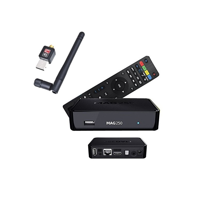 mag 250 cl wifi d codeur iptv multim dia set top box tv r cepteur ip vod. Black Bedroom Furniture Sets. Home Design Ideas