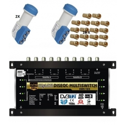 HD-LINE PRO MULTISWITCH 9/8 - 2SAT (+1SAT 1 POLARITE) - 1TER / 8DEMOS